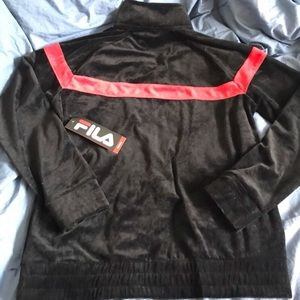 FILA Old School Velour Men's Tracksuit Jacket NWT